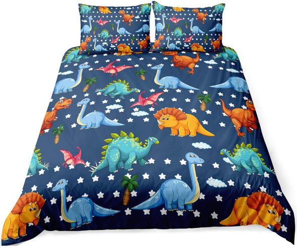 Cartoon Dinosaur World Personalized Name Duvet Cover Bedding Set