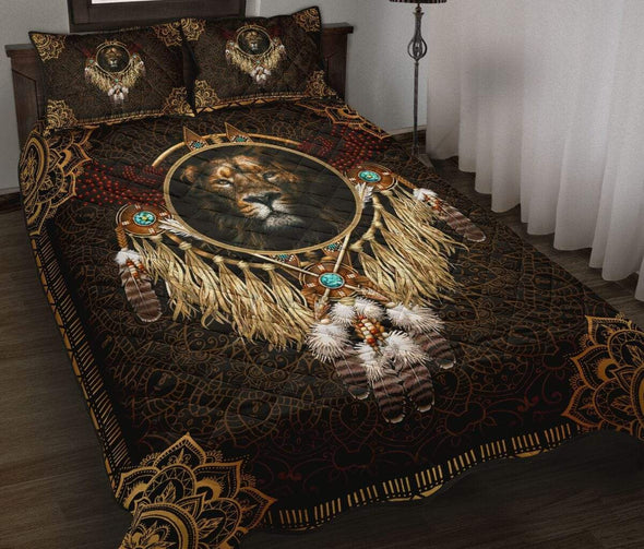 King Lion Native American Bohemian Quilt Bed Set #89l