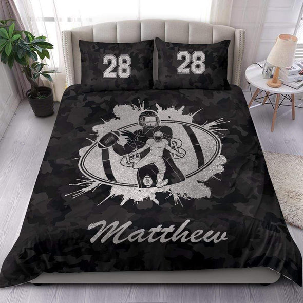 Football Ball In Ball Personalized Duvet Cover Bedding Set with Name And Number