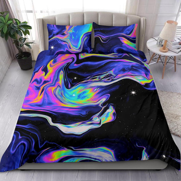 Amazing Galaxy Psychedelic Trippy Art Duvet Cover Bedding Set