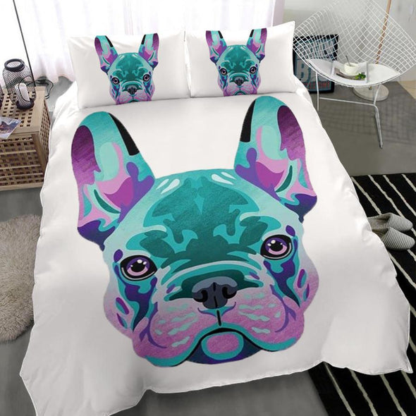 Frenchie Dog Personalized Name Duvet Cover Bedding Set