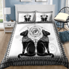 Couple Cats Ancient Egyptian Personalized Name Duvet Cover Bedding Set