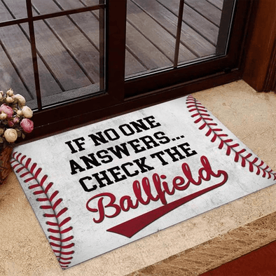 Baseball No One Answer doormat #H