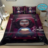 Black Baby Girl In Cinema Personalized Name Duvet Cover Bedding Set #2907DH