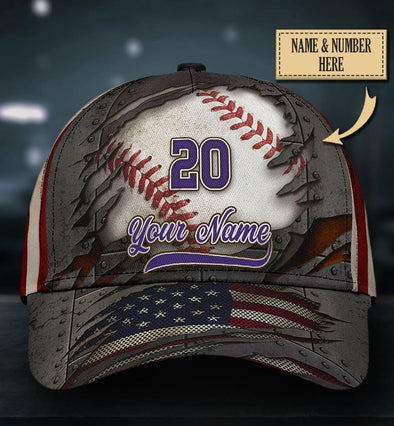 Custom Name And Number Vintage Baseball Classic Cap Hats Head Wear