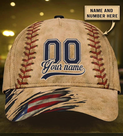 Custom Name And Number Baseball Vintage Classic Cap Hats Head Wear