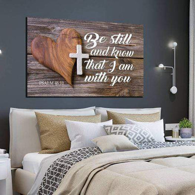 Be Still And Know That I Am With You Canvas Print Wall Art #0401l