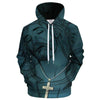 Jesus Wearing Cross Necklace Hoodie 3D All Over Print