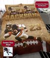Football Player Run Personalized Duvet Cover Bedding Set #1310DH