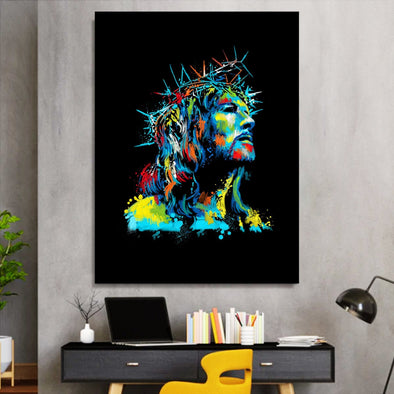 Jesus Crown Of Thorns Canvas Prints