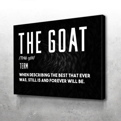 The GOAT Black Canvas Wall Art