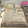 LetterTo my Granddaughter, Love Grandma Personalized Name Duvet Cover Bedding Set #48DH