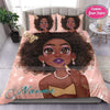 Black Cute Girl Lipstick Personalized Name Duvet Cover Bedding Set #308DH