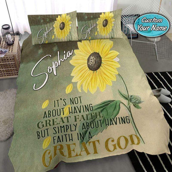 Sunflower Great God Personalized Name Duvet Cover Bedding Set #2508V
