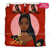 Black Sassy Girl Bedding Personalized Name Duvet Cover Bedding Set #1807DH