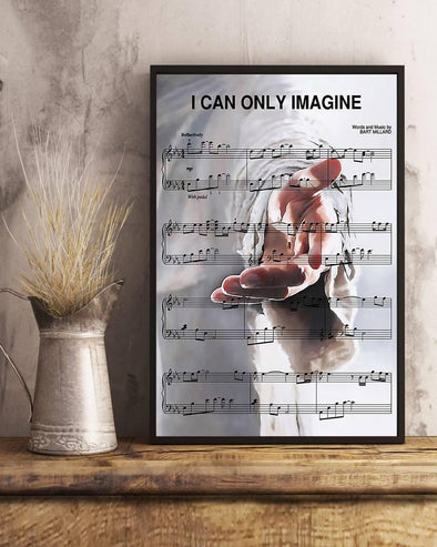 Give Me Your Hand Music Sheet Horizontal Canvas Prints #V