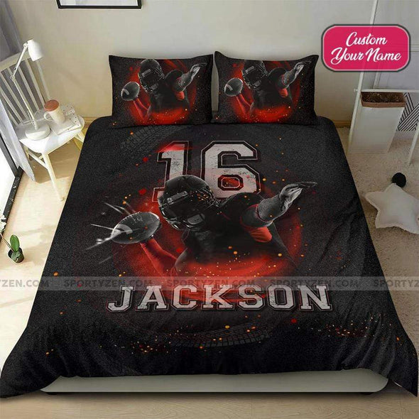 Football Superbowl Personalized Duvet Cover Bedding Set with Your Name And Number #1807DH