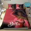 Black Sassy Queen In Pink Bedding Personalized Name Duvet Cover Bedding Set #2407DH