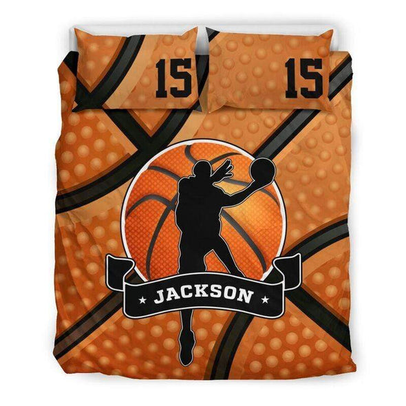 Sportyzen Bedding Set Basketball Theme Custom Duvet Cover Bedding Set with Your Name #2204L