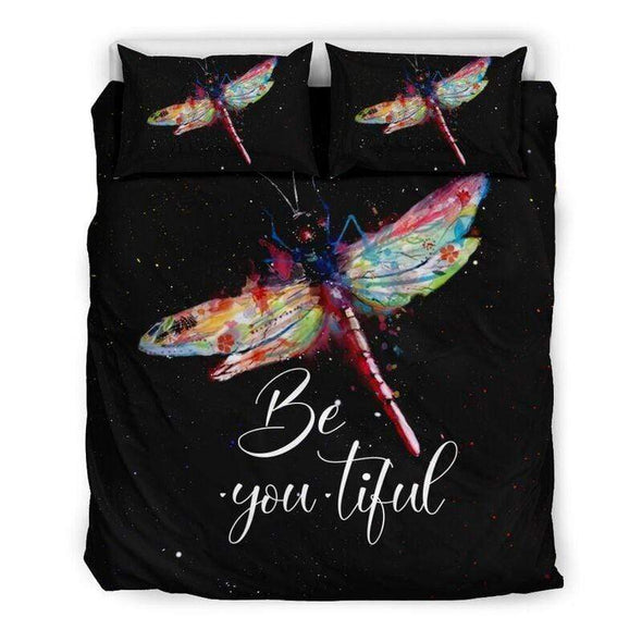 Sportyzen Bedding Set Beautiful Dragonfly Duvet Cover Bedding Set #0905