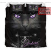 Sportyzen Bedding Set Cat Custom Duvet Cover Bedding Set with Your Name #10420V
