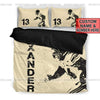 Sportyzen Bedding Set Football Vector Custom Duvet Cover Bedding Set with Your Name And Number #2305V