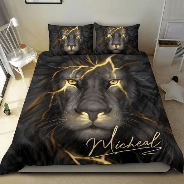 Sportyzen Bedding Set Lion Custom Duvet Cover Bedding Set with Your Name #1903