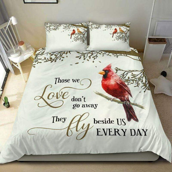 Sportyzen Bedding Set Personalized Memorial With Cardinal Duvet Cover Bedding Set #0905