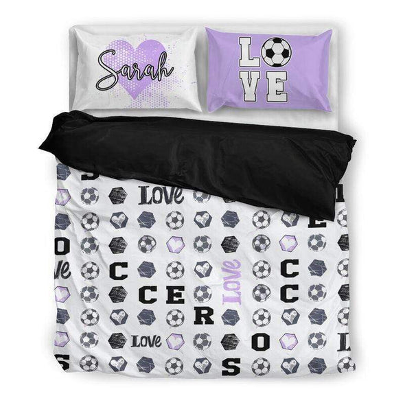 Sportyzen Bedding Set Soccer Custom Duvet Cover Bedding Set with Your Name #1604L