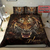 Sportyzen Bedding Set Tiger Roar Custom Duvet Cover Bedding Set with Names #405V