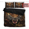 Sportyzen Bedding Set US King Tiger Roar Custom Duvet Cover Bedding Set with Names #405V