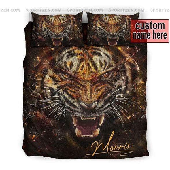 Sportyzen Bedding Set US Queen/Full Tiger Roar Custom Duvet Cover Bedding Set with Names #405V