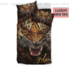 Sportyzen Bedding Set US Twin Tiger Roar Custom Duvet Cover Bedding Set with Names #405V