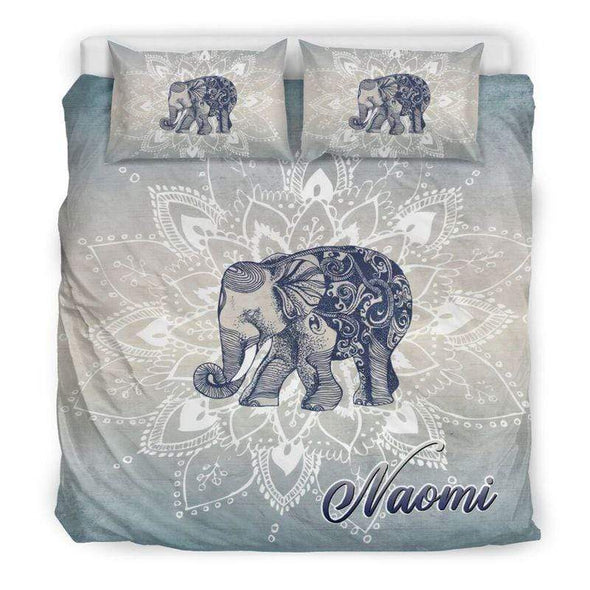 Elephant Bohemian Personalized Name Duvet Cover Bedding Set #128dh