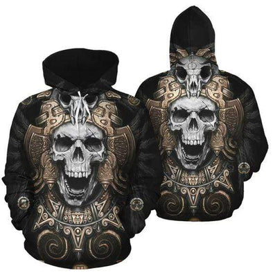 Native Skull Hoodie 3D All Over Print