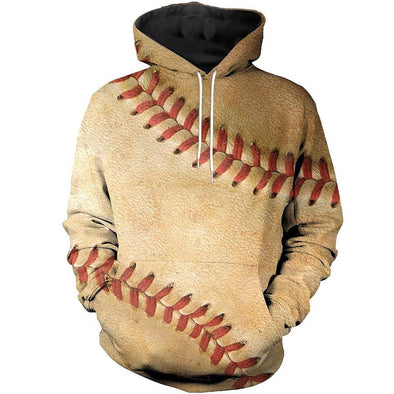 Amazing Vintage Baseball Line Brown Hoodie 3D All over print