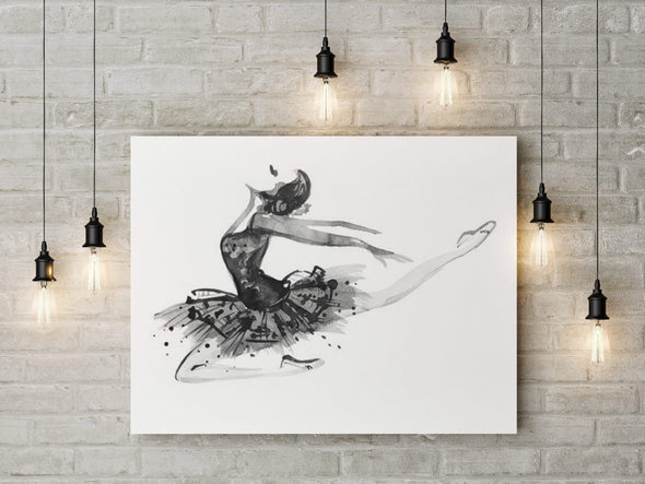 Drawing Ballet Dancing Canvas Prints #1108HL