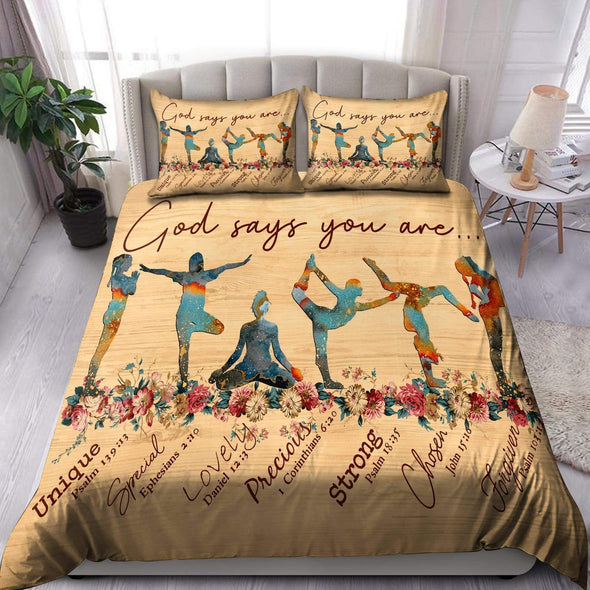 Yoga God Says You Are Duvet Cover Bedding Set