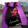 Black girl Dope Personalized Name Duvet Cover Bedding Set #287V