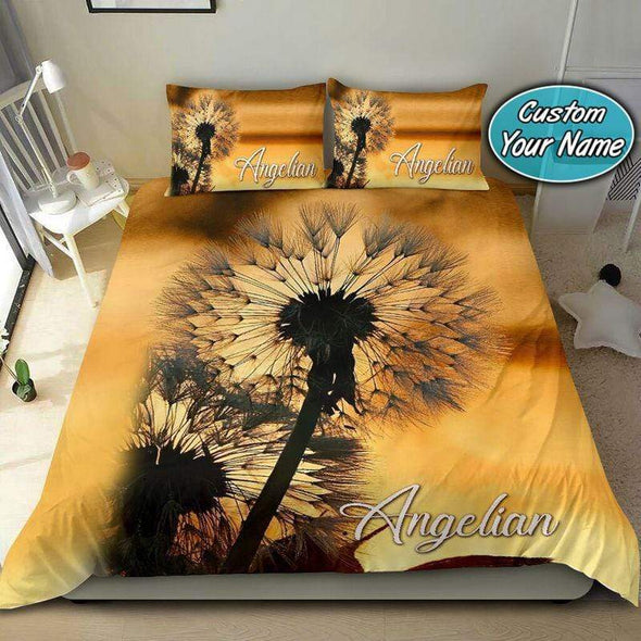 Dandelion Beautiful Personalized Name Duvet Cover Bedding Set #909V