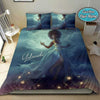 Black Girl In The Sky Personalized Name Duvet Cover Bedding Set #2207V