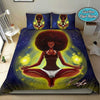 Black Girl meditation Personalized name Duvet Cover Bedding Set #247V