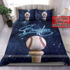 Galaxy Baseball Ball and Bat duvet cover bedding set with name #2306v