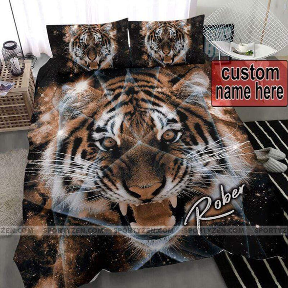 Tiger Galaxy Personalized Name Duvet Cover Bedding Set #2206V