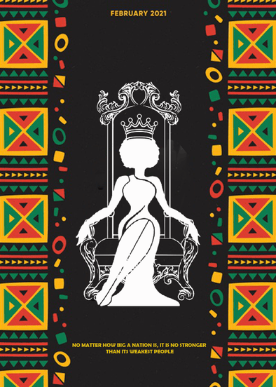 Black Queen With Crown No Matter How Big a Nation Canvas Prints Art #V