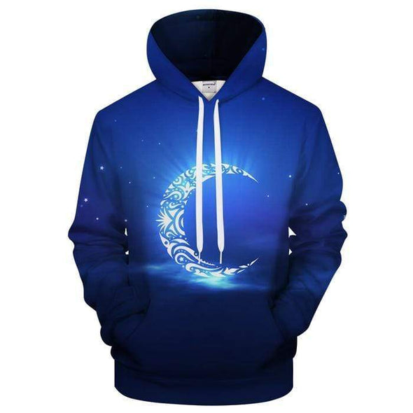 Amazing Ramadan Blue Moon Light Hoodie 3D All Over Print