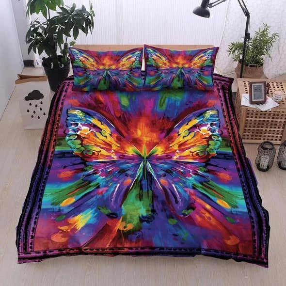 Butterfly Hippie Duvet Cover Bedding Set