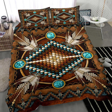 Brown Native American Duvet Cover Bedding Set #H