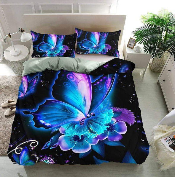 Butterfly Galaxy Duvet Cover Duvet Cover Bedding Set #V