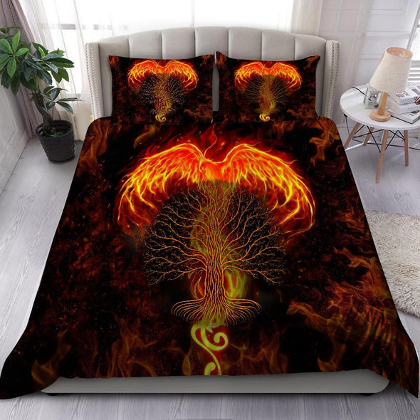 Beautiful Phoenix And Tree Of Life Duvet Cover Bedding Set